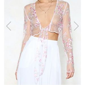 Nasty Gal Mesh Crop Top